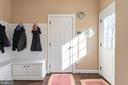 Mudroom off Kitchen with Built-in Features - 8124 TWELFTH CORPS DR, FREDERICKSBURG