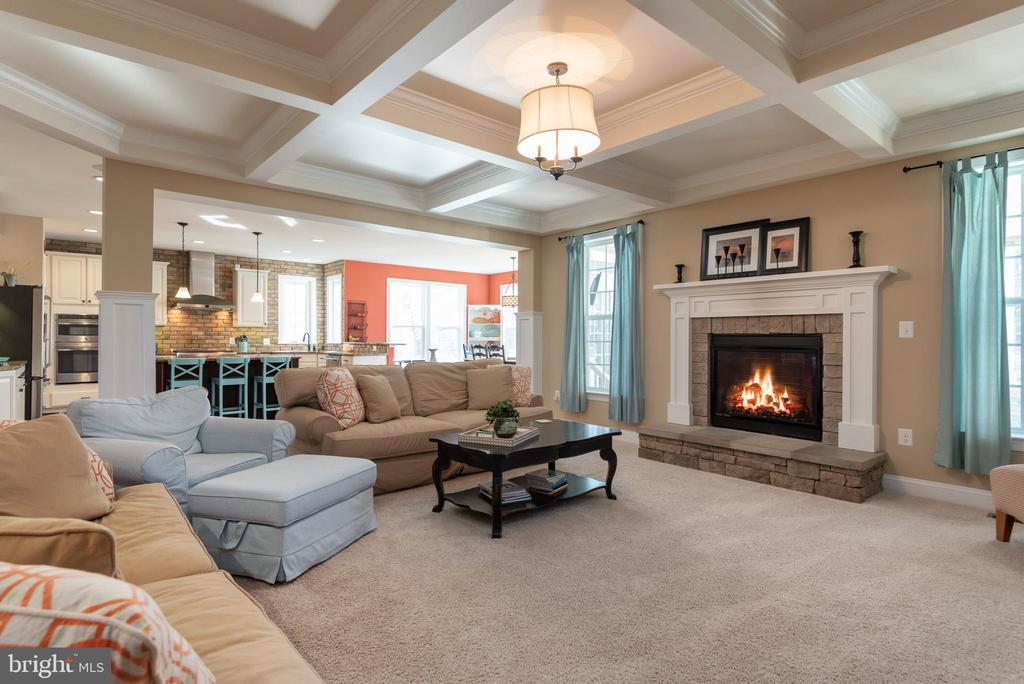 Family Room has Coffered Ceiling..Stunning! - 8124 TWELFTH CORPS DR, FREDERICKSBURG