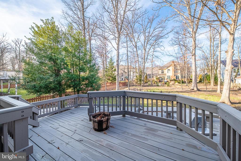 Amazing deck and backyard - 43260 PRESTON CT, ASHBURN