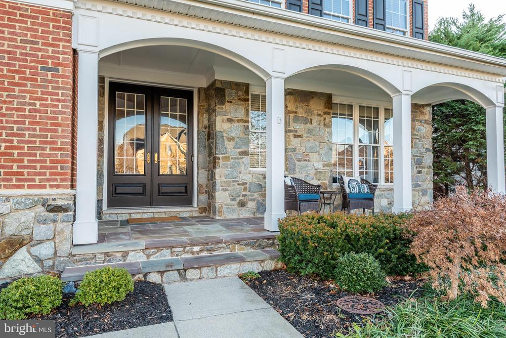 Beautiful slate floored  front porch - 25638 ELK LICK RD, CHANTILLY