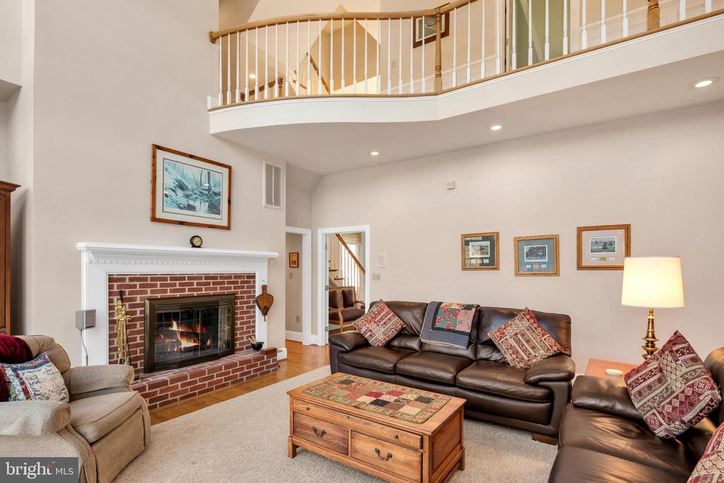 Family room with wood burning fireplace - 36704 SNICKERSVILLE TPKE, PURCELLVILLE