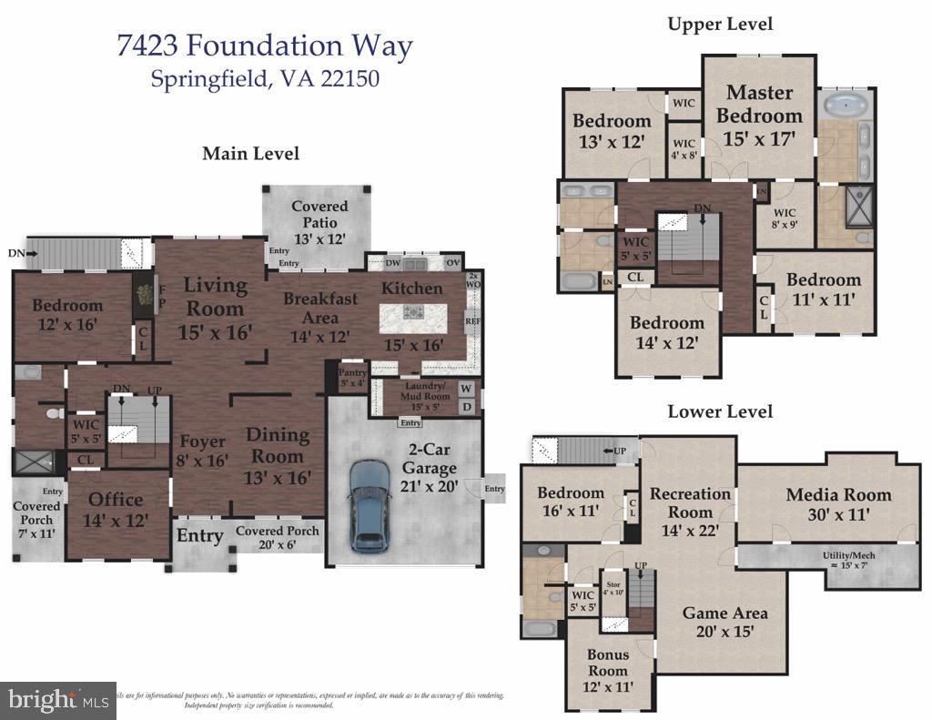 Floor plan - 7423 FOUNDATION WAY, SPRINGFIELD