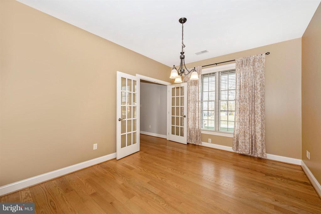 French doors  let in the light in dining room - 10616 BRATTON CT, WILLIAMSPORT