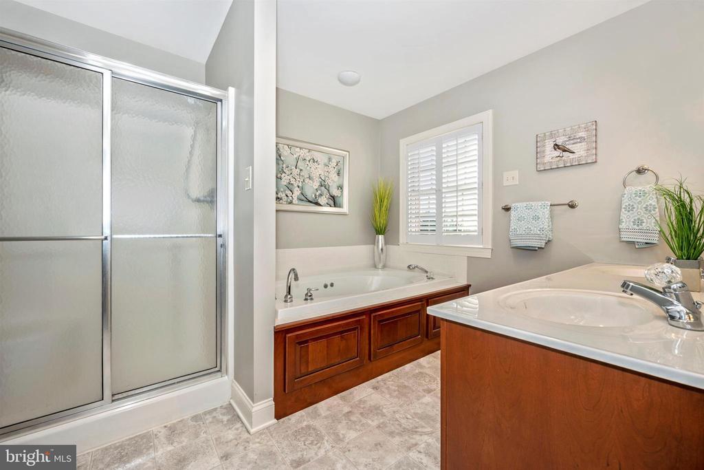 Walk in shower/ soaking tub in Master Bath - 10616 BRATTON CT, WILLIAMSPORT