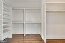 built-in organizers in master BR closet - 3465 N EMERSON ST, ARLINGTON