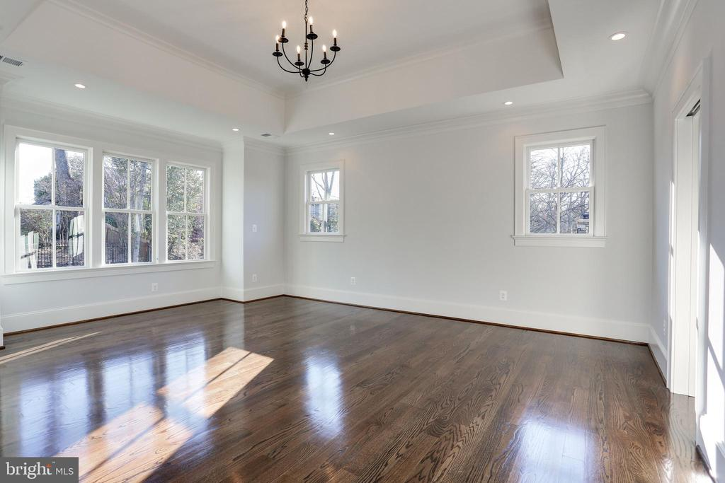 tray ceiling and recessed lights at bed wall - 3465 N EMERSON ST, ARLINGTON