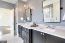 marble topped vanity and linen closet - 3465 N EMERSON ST, ARLINGTON