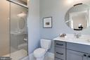marble topped vanity and large shower - 3465 N EMERSON ST, ARLINGTON