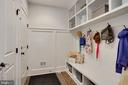 mudroom and closets at oversized 2 car garage - 3465 N EMERSON ST, ARLINGTON
