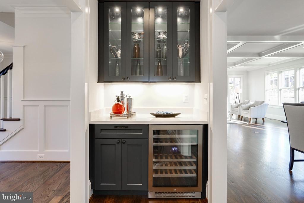 wine fridge and display cabinets - 3465 N EMERSON ST, ARLINGTON