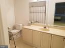 Master Bathroom with Hand Rails - 3005 S LEISURE WORLD BLVD #405, SILVER SPRING