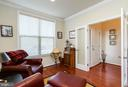 MAIN LEVEL STUDY/LIBRARY WITH FRENCH DOORS - 2302 ROE LN, FREDERICK