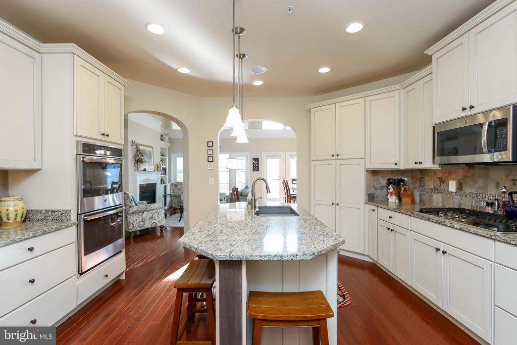 KITCHEN WITH RECESSED LIGHTING AND ISLAND - 2302 ROE LN, FREDERICK