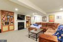 RECREATION ROOM W/ FIREPLACE AND BUILT INS - 2302 ROE LN, FREDERICK