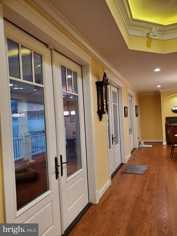 Three sets of french doors to porch. - 1504 MARKER RD, MIDDLETOWN