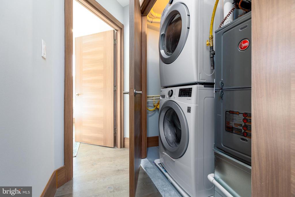 Washer and dryer in unit. - 2109 M ST NE #4, WASHINGTON