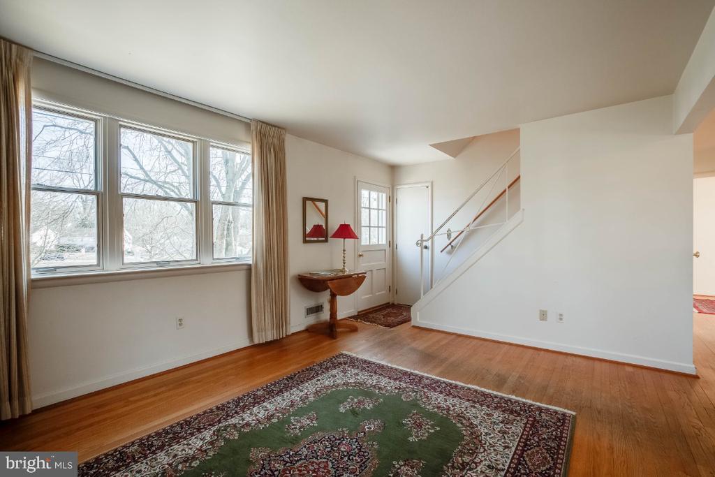 Main living area , hardwood flooring - 12602 VALLEYWOOD DR, SILVER SPRING