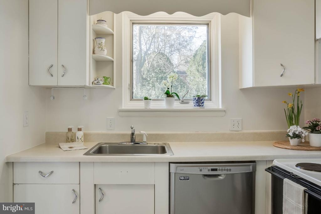 Light & Bright Kitchen overlooking  lush green - 12602 VALLEYWOOD DR, SILVER SPRING