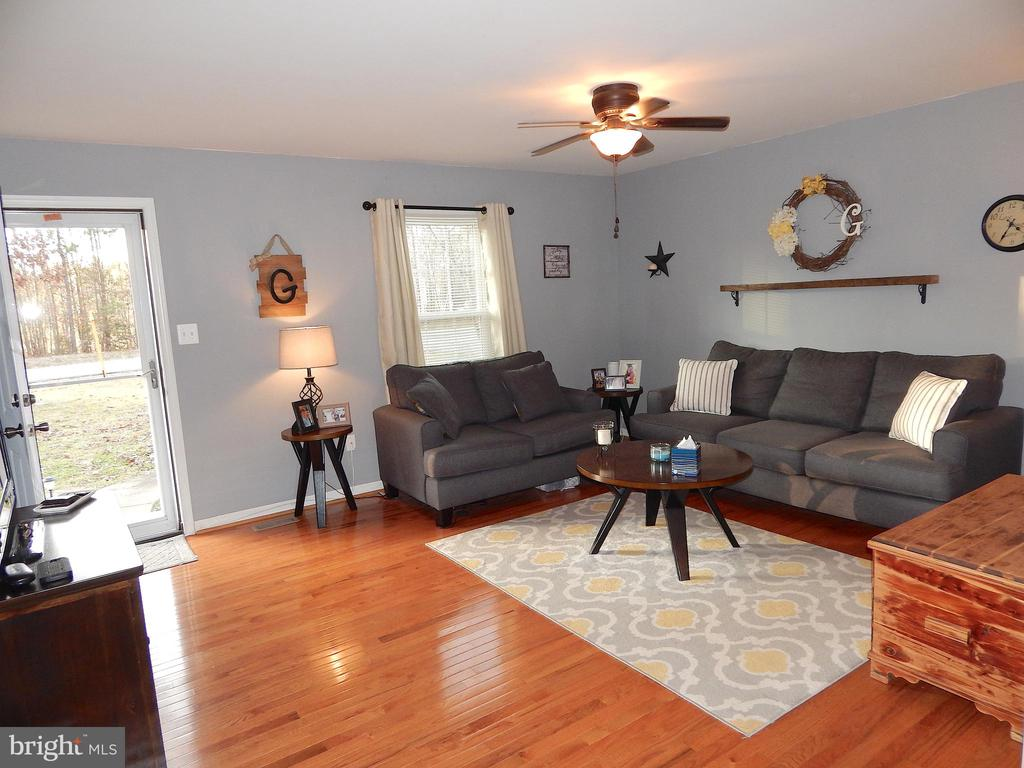 View 2 of living room - beautiful hardwood - 6307 TOWLES MILL RD, SPOTSYLVANIA