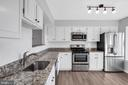 Granite, stainless steel appls,  white cabinetry - 2053 SWANS NECK WAY, RESTON