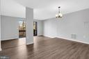 Bright, open living and ding areas - 2053 SWANS NECK WAY, RESTON