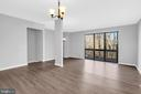 Sliding door to balcony with private views - 2053 SWANS NECK WAY, RESTON