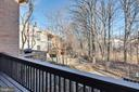 Balcony overlooks common area - 2053 SWANS NECK WAY, RESTON