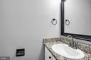 Updated half bath - 2053 SWANS NECK WAY, RESTON