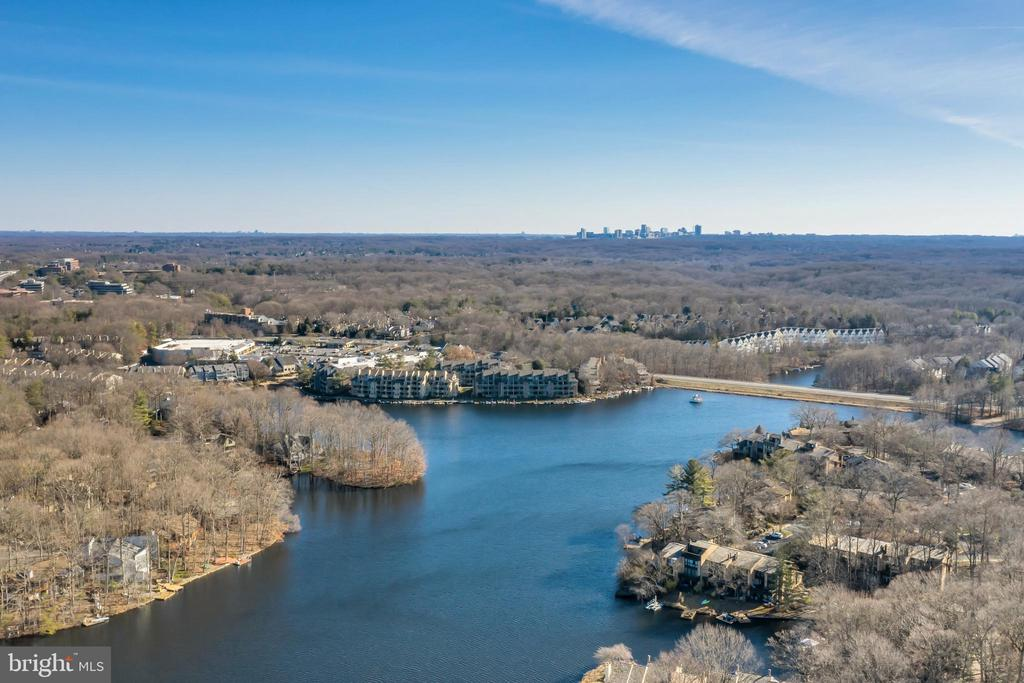 Lovely views of lake and surrounding area - 2053 SWANS NECK WAY, RESTON