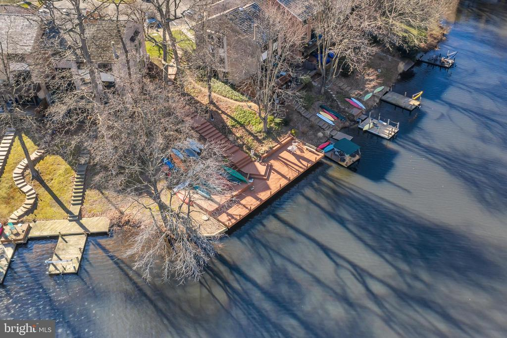 Overview of dock - 2053 SWANS NECK WAY, RESTON