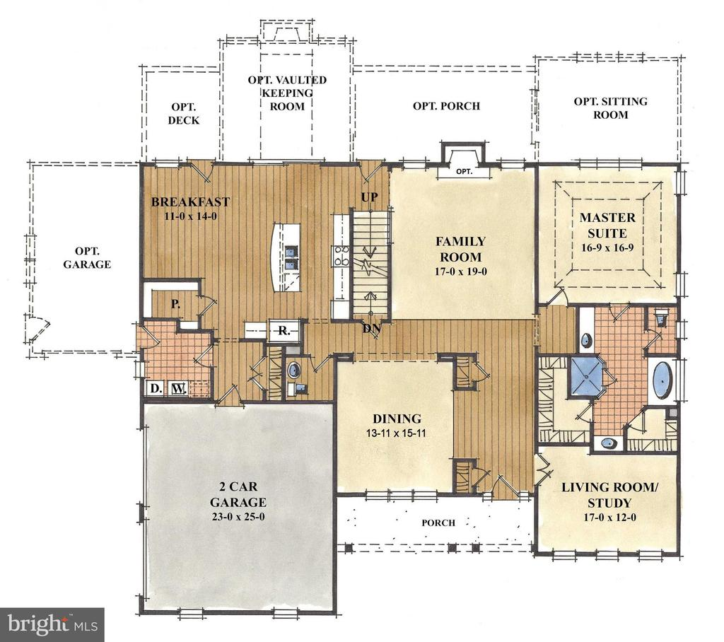 Main Level Owner 's Suite - First Floor Plan - 1511 BEAUX LN, GAMBRILLS