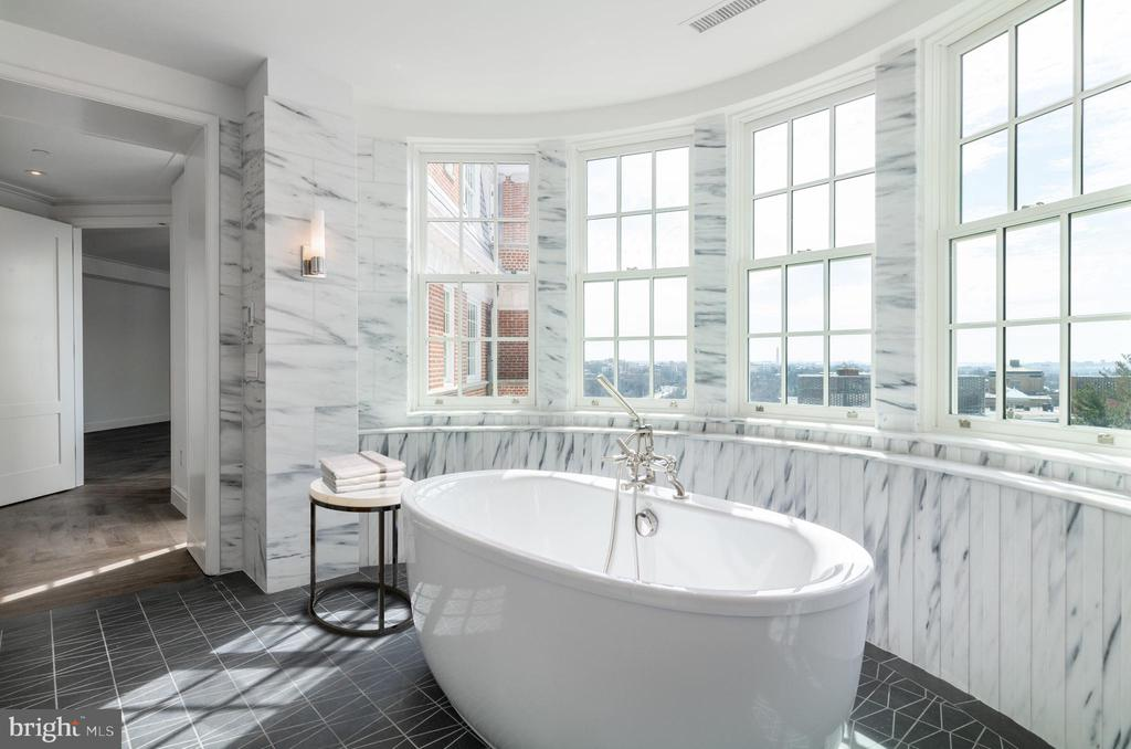 Luxurious Soaking Tub in 1 of 2 Two Master Baths - 2660 CONNECTICUT AVE NW #7D, WASHINGTON