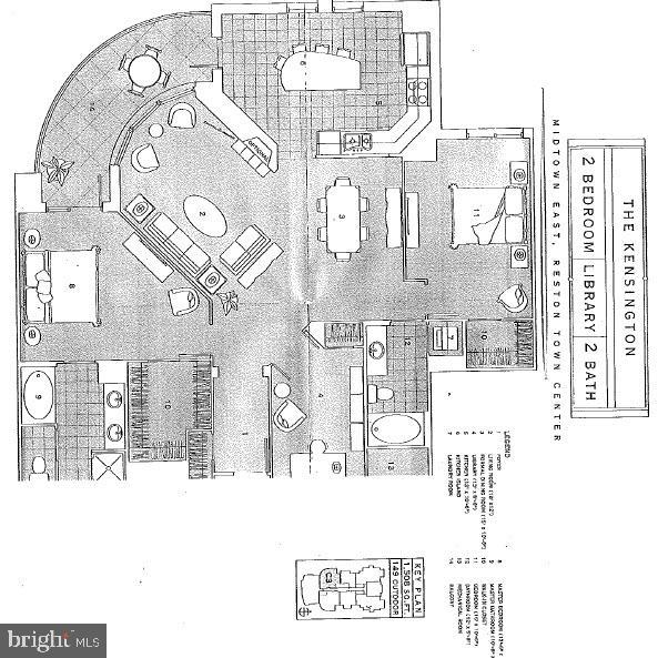 Floor Plan - 11990 MARKET ST #1401, RESTON
