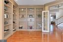Office with built in bookcases - 18374 KINGSMILL ST, LEESBURG
