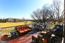 View of the golf course from trex deck - 18374 KINGSMILL ST, LEESBURG