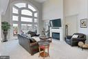 Great views of golf course from family room - 18374 KINGSMILL ST, LEESBURG