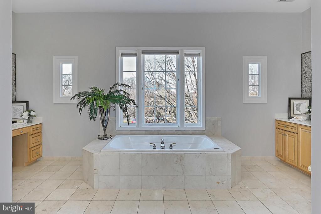 Master bath with his and hers vanities - 18374 KINGSMILL ST, LEESBURG