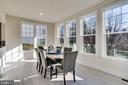 Dining area surrounded by windows on all sides - 1061 MARMION DR, HERNDON