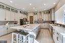 Gourmet kitchen w/quartz counters/island - 1061 MARMION DR, HERNDON