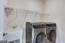 Upper level laundry w/large capacity w/d - 1061 MARMION DR, HERNDON