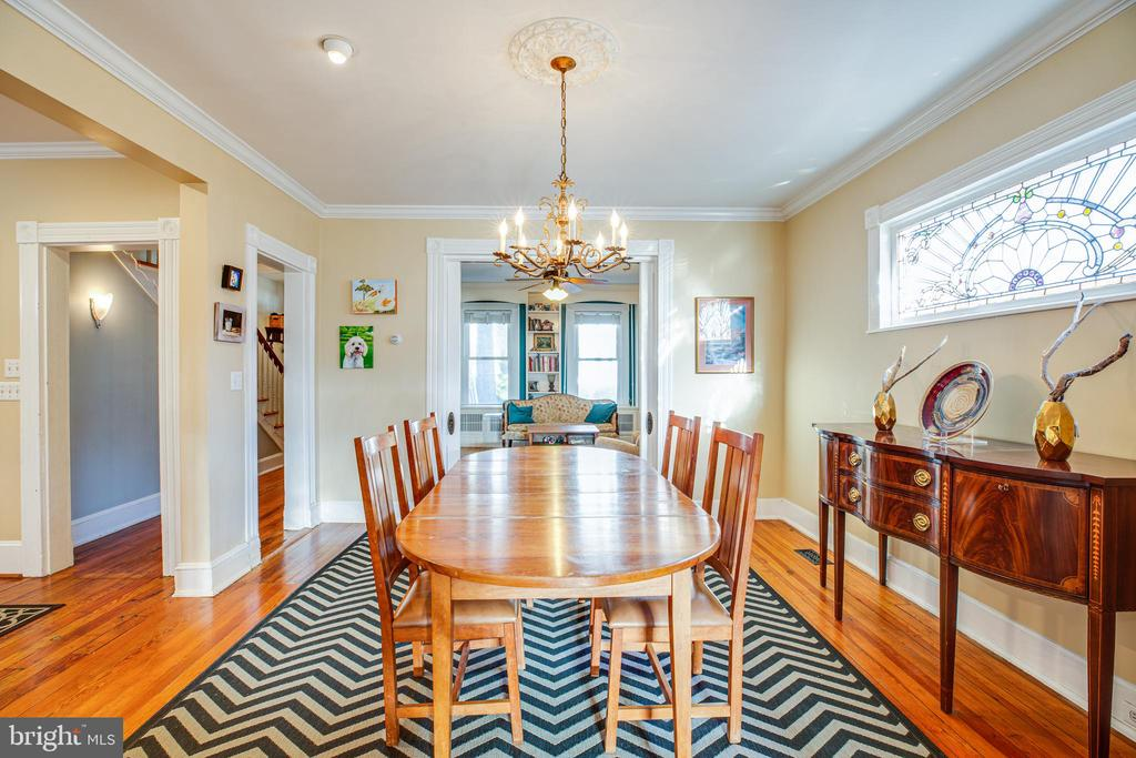 Attractive dining room off of the kitchen - 604 HAWKE ST, FREDERICKSBURG