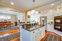 Kitchen open to Family and Dining rooms - 604 HAWKE ST, FREDERICKSBURG