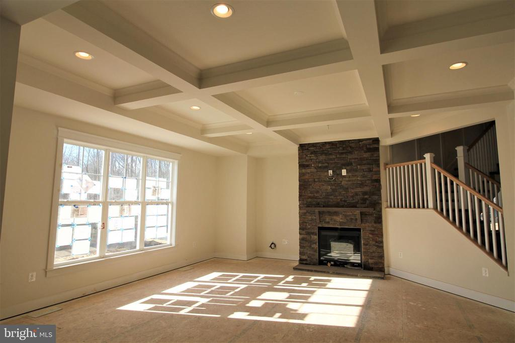 Warm Inviting Fireplace in Family Room - 9903 MOSBY RD, FAIRFAX