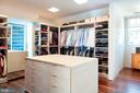 Walk In Master Closet - 3304 R ST NW, WASHINGTON