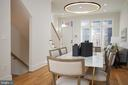 Dining Room, with Ultra Chic light fixtures - 419 GUETHLER'S WAY SE, WASHINGTON