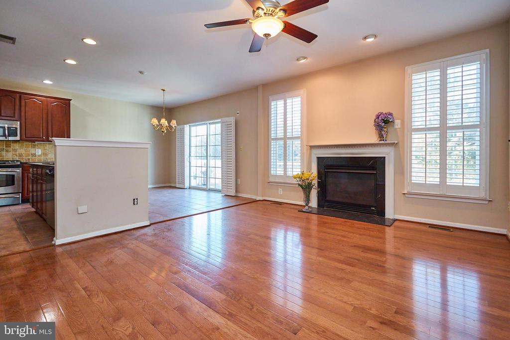 Lighted ceiling fan in the family room - 5642 WHEELWRIGHT WAY, HAYMARKET
