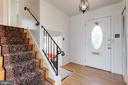 Inviting entrance w/ hardwood floors - 6424 MERIWETHER LN, SPRINGFIELD