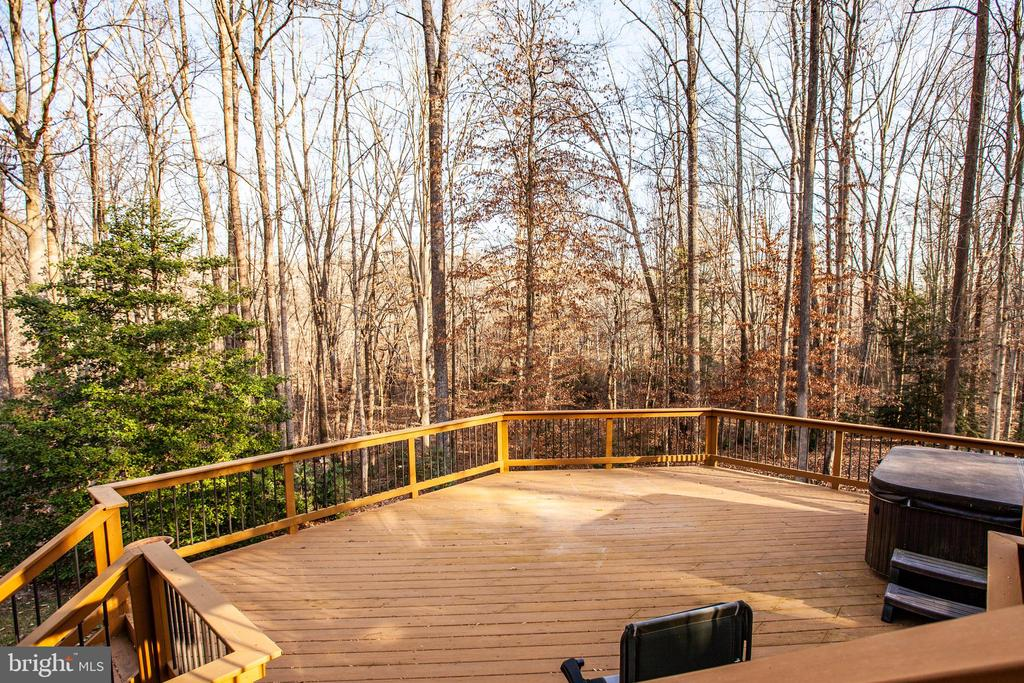 Lower Deck with Hot Tub - 7400 BROWNS FARM RD, SPOTSYLVANIA