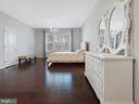 Master bedroom that backs to mature trees - 2952 MILL ISLAND PKWY, FREDERICK