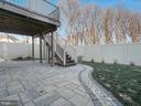 Recently hardscaped patio area with landscaping - 2952 MILL ISLAND PKWY, FREDERICK